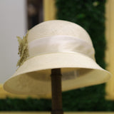 Sisal Lace Cloche In Ivory
