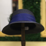 Peacock Cloche In Navy
