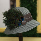 Peacock Cloche In Smoke