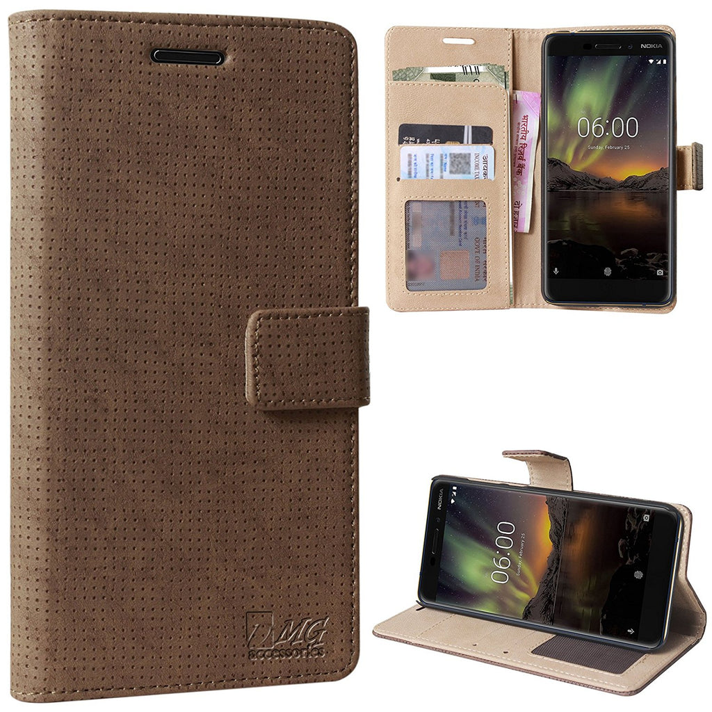 low priced aca81 23b1d Nokia 6.1 Coffee Series Premium Wallet Flip Cover – DMG Accessories