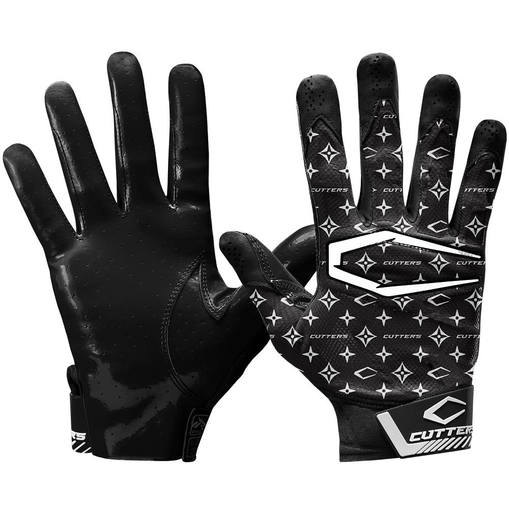 NEW Cutters Rev Pro 2.0 Receiver Adult Football Gloves Black Size Large