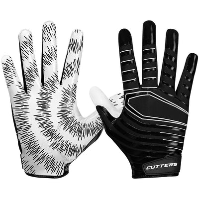 Black Rev 3.0 Football Receiver Gloves - Image of Back of Hand and Palm Area