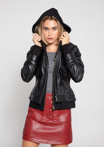Annalise Womens Leather Jacket - Discounted!-Womens Leather Jacket-Fadcloset-XS-Black-FADCLOSET CA