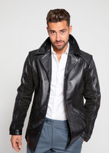 Load image into Gallery viewer, Men's Tormund Suede Leather Blazer-Mens Leather Blazer-Fadcloset-XS-BLACK-FADCLOSET