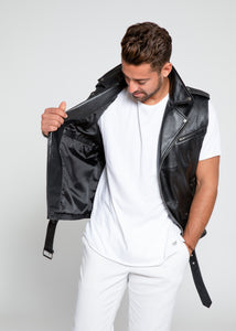 Men's Jax Ultimate Lambskin Leather Vest-Leather Vest-FADCLOSET-FADCLOSET CA
