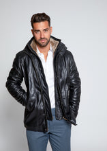 Load image into Gallery viewer, Men's Tiberius Premium Lambskin Leather Coat with Fur-Leather Coat-Fadcloset-FADCLOSET CA