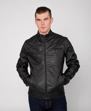 Load image into Gallery viewer, Men's Eagle PU Faux Leather Biker Jacket-Leather Jacket-FADCLOSET CA