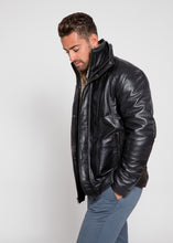 Charger l'image dans le visualiseur de la galerie, Men's Tiberius Premium Lambskin Leather Coat with Fur-Leather Coat-Fadcloset-FADCLOSET CA