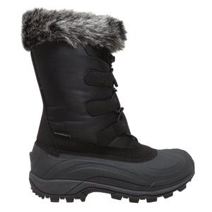 Women's Winter Tecs Nylon Winter Boot Black-Women's Boots-Fadcloset-6-BLACK-FADCLOSET