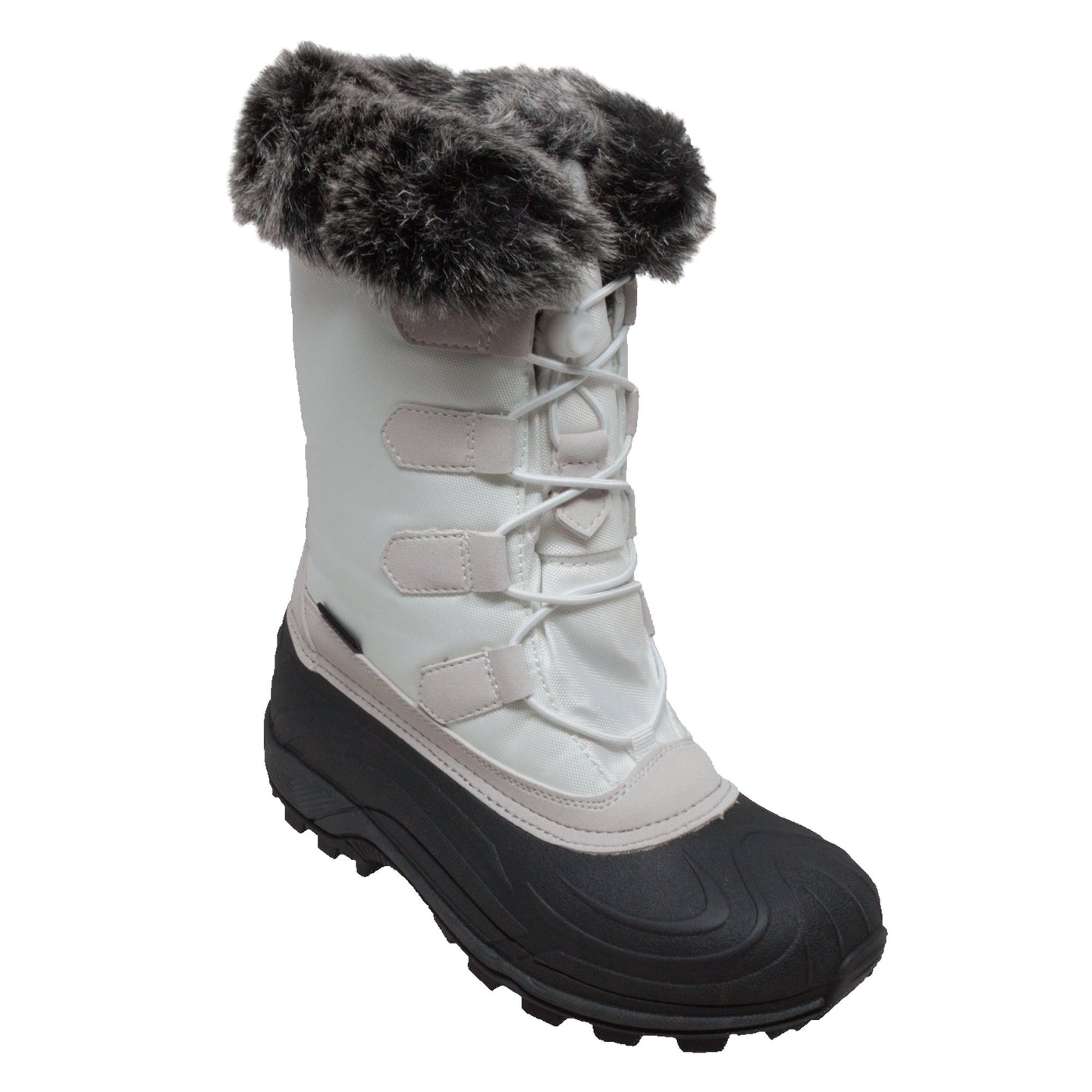 Women's Winter Tecs Nylon Winter Boot White-Women's Boots-Fadcloset-6-WHITE-FADCLOSET
