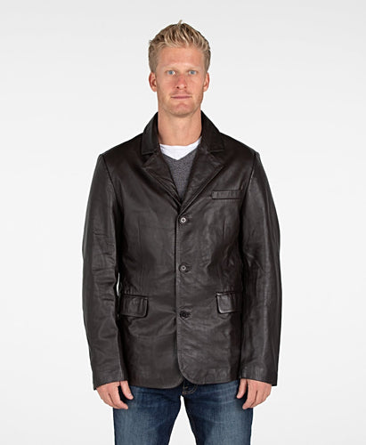 Mens Lexington Premium Leather Blazer Coat-Leather Coat-Fadcloset-XS-Black-FADCLOSET CA