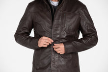Load image into Gallery viewer, Mens Fancy Lambskin 4 Button Leather Coat-Leather Coat-Fadcloset-XS-Choco Brown-FADCLOSET CA