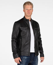 Load image into Gallery viewer, Wilson Mens Leather Jacket - Discounted!-Leather Jacket-Fadcloset-XS-Black-FADCLOSET CA