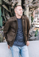 Load image into Gallery viewer, Men's Cowhide Bomber Pilot Leather Jacket-Mens Leather Jacket-Fadcloset-XS-Brown-FADCLOSET CA