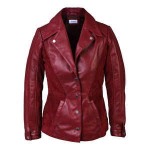 Womens Myrcella Suede Leather Blazer-Womens Leather Jacket-Fadcloset-XS-MAROON-FADCLOSET CA