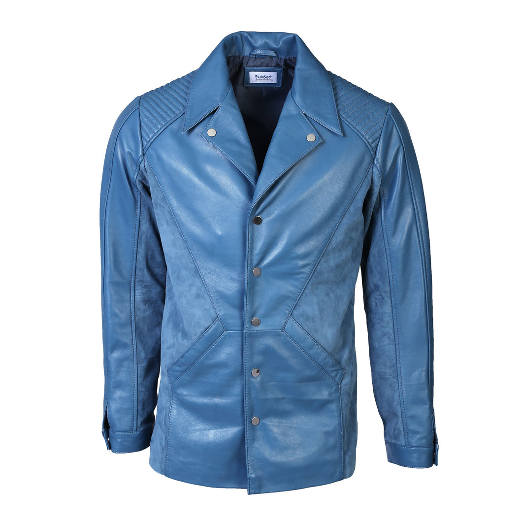 Men's Tormund Suede Leather Blazer-Mens Leather Blazer-Fadcloset-XS-STONE BLUE-FADCLOSET