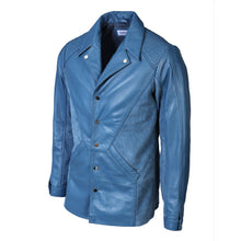 Load image into Gallery viewer, Men's Tormund Suede Leather Blazer-Mens Leather Blazer-Fadcloset-XS-STONE BLUE-FADCLOSET