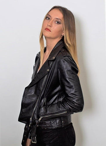 Womens Moto Nappa Leather Jacket - Discounted!