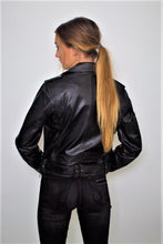 Load image into Gallery viewer, Womens Moto Nappa Leather Jacket - Discounted!-Womens Leather Jacket-Fadcloset-XS-Black-FADCLOSET CA