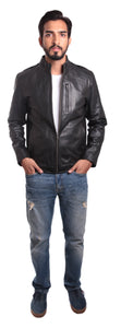 Johnny Mens Leather Jacket-Leather Jacket-Fadcloset-XS-Black-FADCLOSET CA