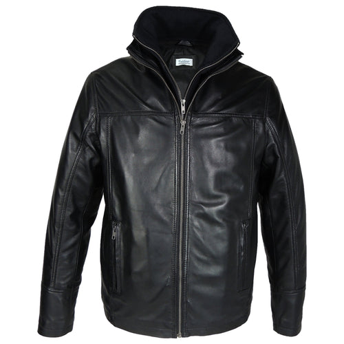 Mens Oxford Csaba Leather Jacket - Discounted!-Leather Jacket-Fadcloset-XS-Black-FADCLOSET CA