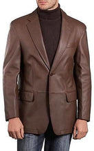 Load image into Gallery viewer, Mens Lambskin Choco Brown Leather Blazer-Mens Leather Blazer-Fadcloset-XS-Choco Brown-FADCLOSET CA