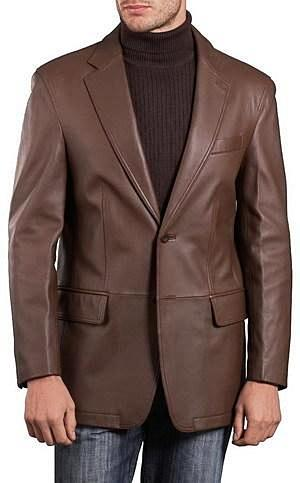 Mens Lambskin Choco Brown Leather Blazer-Mens Leather Blazer-Fadcloset-XS-Choco Brown-FADCLOSET CA