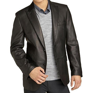 Mens Kilroy Lambskin Leather Blazer on Sale-Mens Leather Blazer-Fadcloset-XS-BLACK-FADCLOSET CA