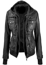 Load image into Gallery viewer, Annalise Womens Leather Jacket - Discounted!-Womens Leather Jacket-Fadcloset-FADCLOSET CA