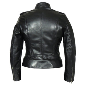 Faya Womens Leather Jacket Midnight - Discounted!-Womens Leather Jacket-Fadcloset-XS-Blue-FADCLOSET CA