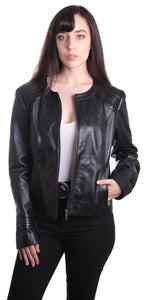 Womens Trendy Black Leather Jacket-Womens Leather Jacket-Fadcloset-XS-Black-FADCLOSET CA