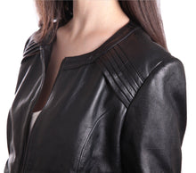 Load image into Gallery viewer, Womens Trendy Black Leather Jacket-Womens Leather Jacket-Fadcloset-XS-Black-FADCLOSET CA
