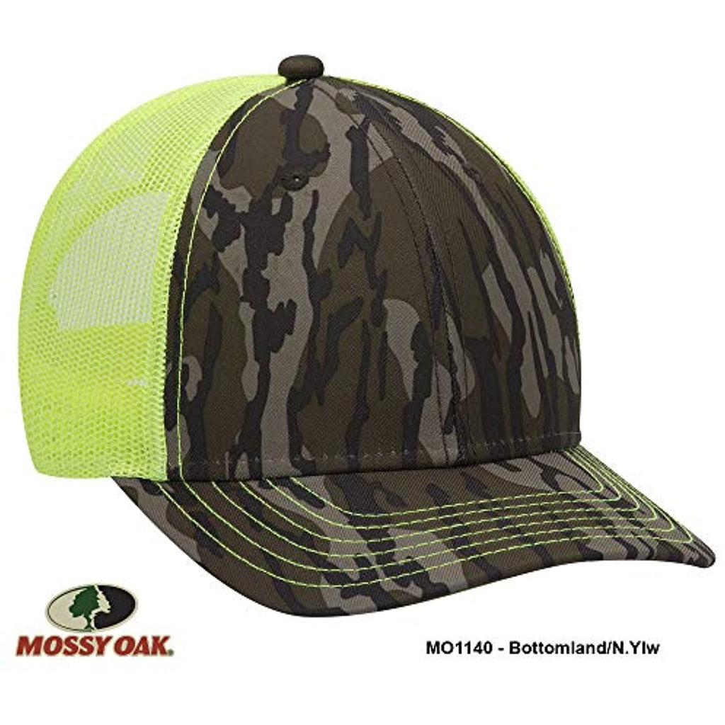 Mossy Oak Camouflage Superior Polyester Twill 6 Panel Low Profile Mesh Back Baseball Cap