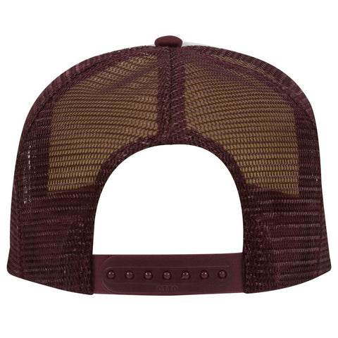 Image of Wholesale OTTO Polyester Foam Front 5 Panel Pro Style Mesh Back Trucker Hat - eWholesaleHats.com