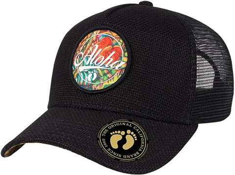 Image of Wholesale Otto Hang Ten Hemp Trucker Cap - eWholesaleHats.com