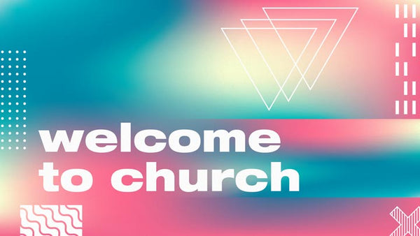 Church Announcement Geometry Gradient