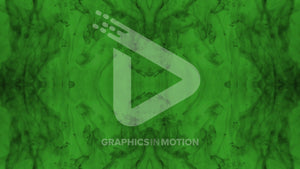 Dark gray kaleidoscope pattern on a bright green background.
