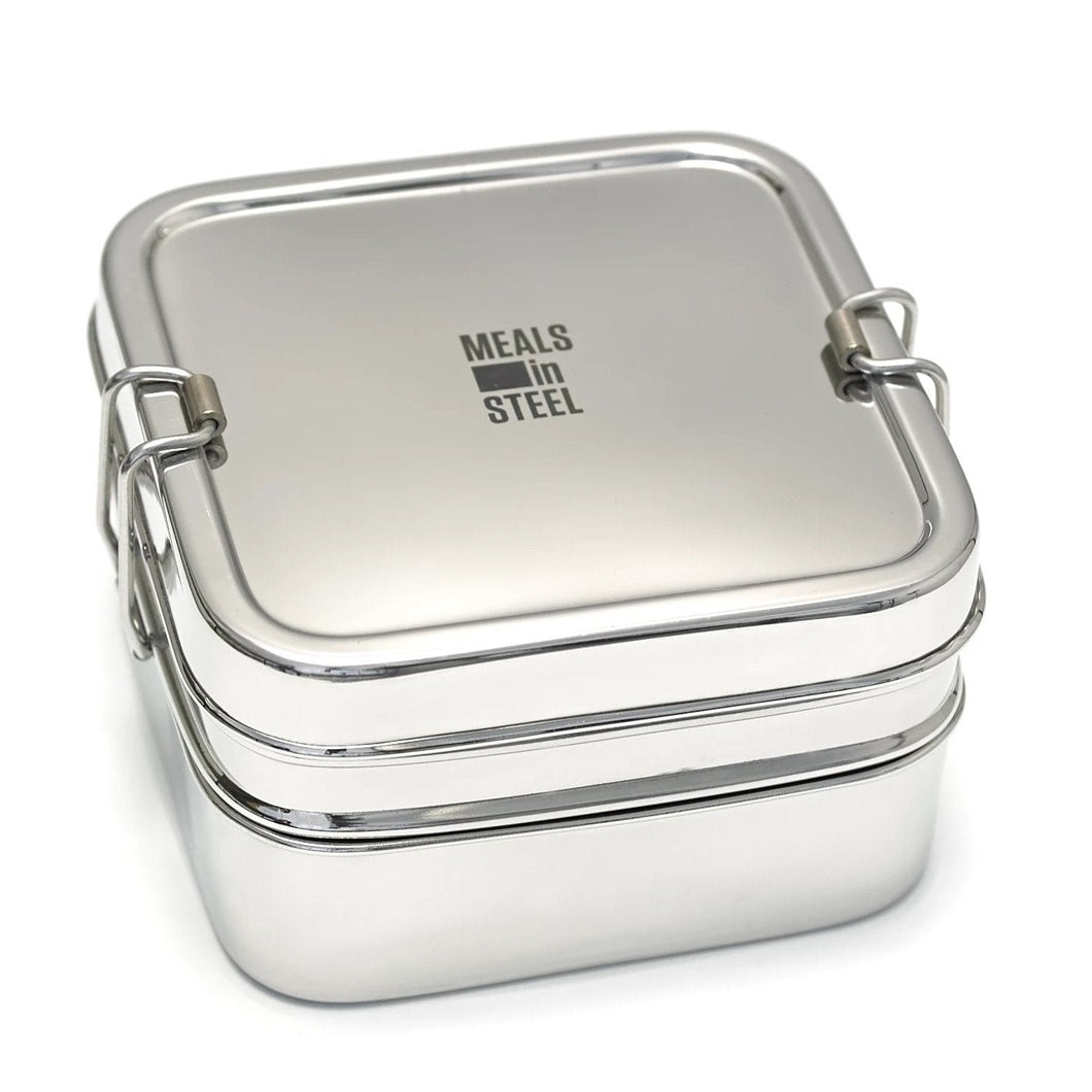 Double Layer Square Lunchbox - Meals In Steel NZ