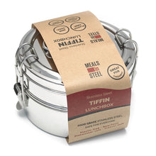 Load image into Gallery viewer, Double Layer Tiffin Lunchbox - Meals In Steel NZ