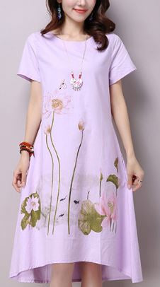 Summer lavender dress Lotus