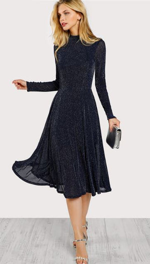 Elegant party dress long sleeve