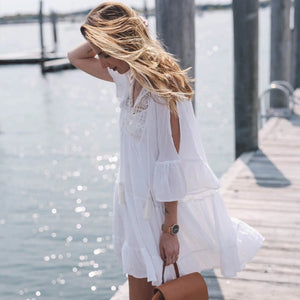 Short bikini dress long sleeve