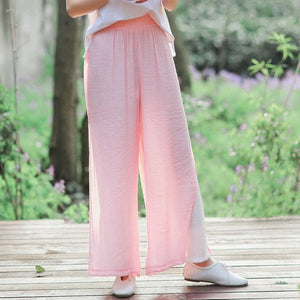 Loose cotton trousers high waist summer 2019
