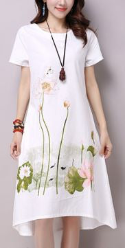 Summer white dress Lotus