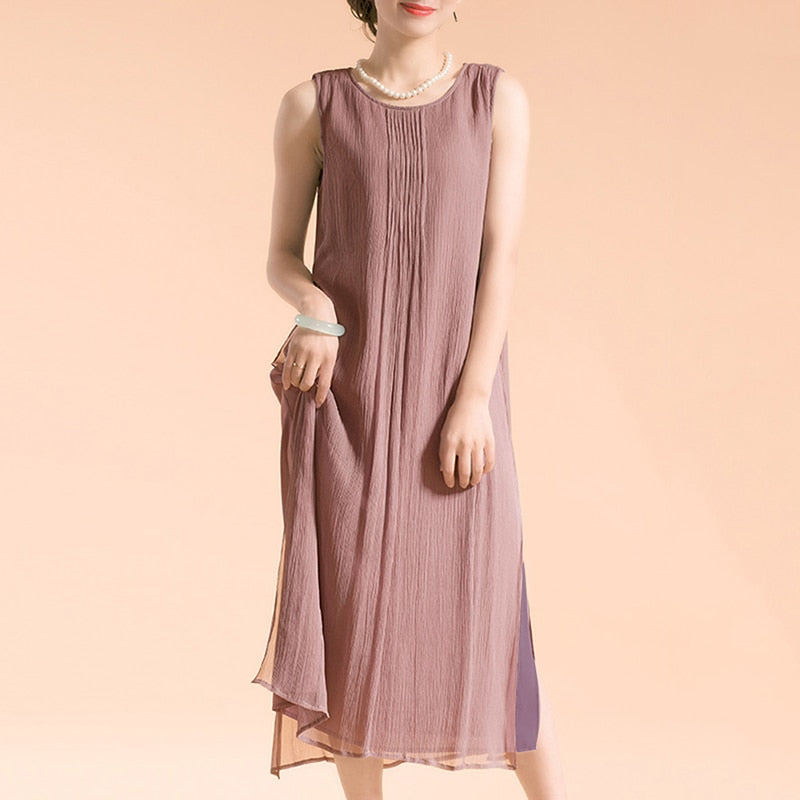 Summer purple loose dress