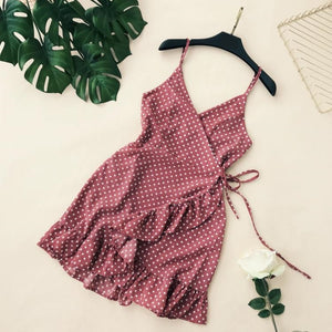 Summer dress with polka dots