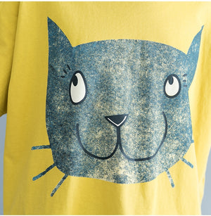 Summer cotton T-Shirt  print Cat