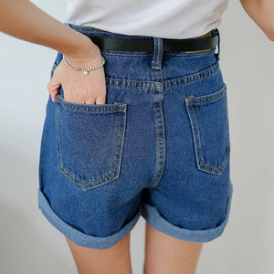 Women's jeans shorts high waist