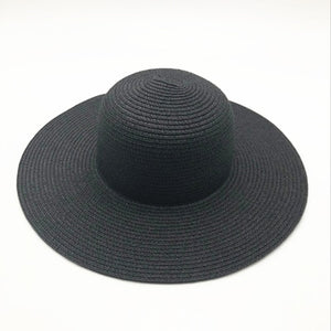 Summer hat large brim black