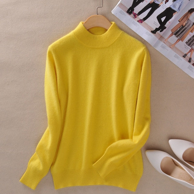 Cashmere pullover-Pretty woman-YELLOW-XXS-Pretty woman